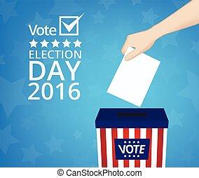 votando, conceito