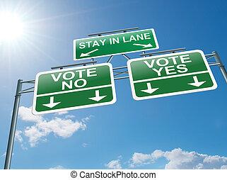 votando, concept.