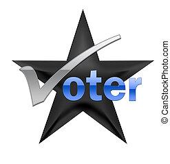 votando, ilustração
