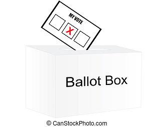 votando, ligado, eleição, day...