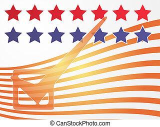 votazione, stati uniti, elezione, illustrazione
