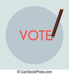 vote, écriture, concept, -, vote