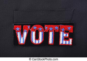 vote, écusson, complet, usa, pocket.