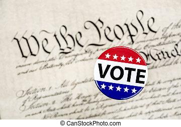 vote, écusson, constitution