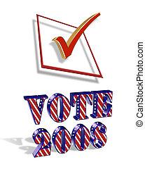 vote, 2008, graphique, 3d