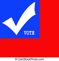 vote 2012 - red white and blue illustration reminder to vote...