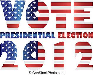 Vote 2012 USA Presidential Election Illustration