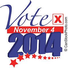 Vote 2014 - 2014 Election Vote Illustration