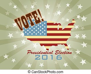 Vote 2016 Presidential Election Retro
