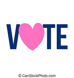 Vote 2020 - vector illustration.