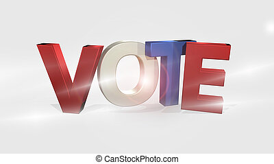 Vote 3D Render isolated voting design