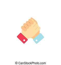vote accept handshake flat style icon