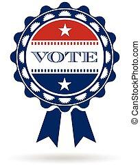 Vote american ribbon logo. Vector graphic design