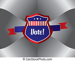 vote and election label theme vector illustration