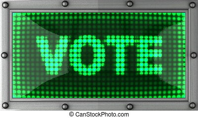 vote announcement on the LED display