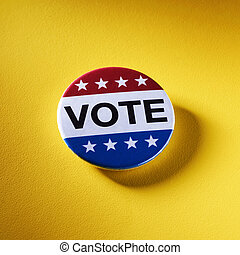 vote badge for the US election