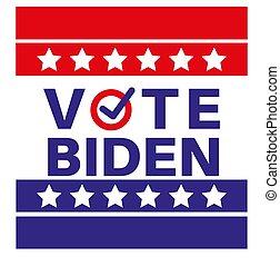 Vote Biden US American presidential election 2020 vector illustration
