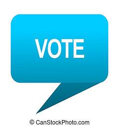 vote blue bubble icon