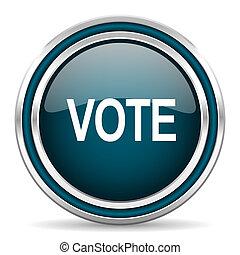 vote blue glossy web icon