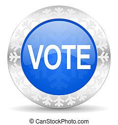 vote blue icon, christmas button