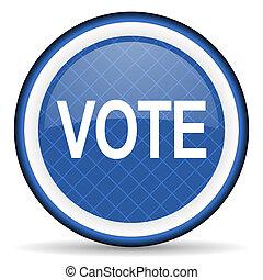 vote blue icon