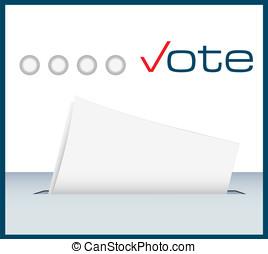 vote, boîte