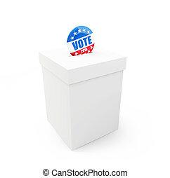 vote, bouton, 2016, écusson, élection