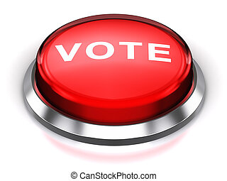 vote, bouton, rond, rouges