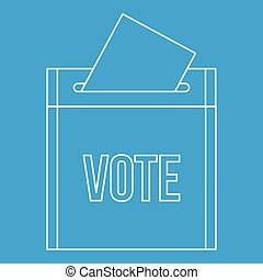 Vote box icon, outline style