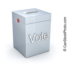 Vote box isolated on white
