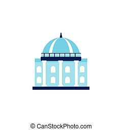 vote building flat style icon