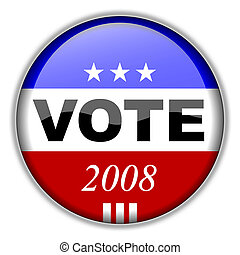Vote Button 2008 - CLIPPING PATH INCLUDED for easy isolation...