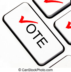 Vote button on keyboard
