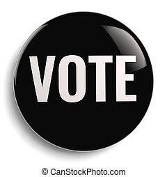 Vote Button Round Black Symbol