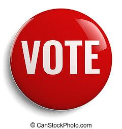 Vote Button Round Red Symbol