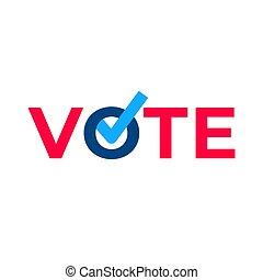 Vote check mark ballot.