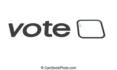 Vote check mark - Check box next to the word vote is marked ...