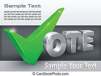 Vote check mark on grey