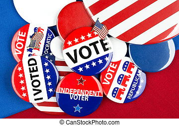 vote, collection, insignes