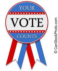 vote, compte, ton