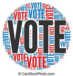 vote, concept, élections