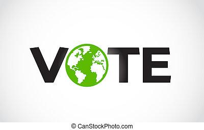 vote, concept, lettre