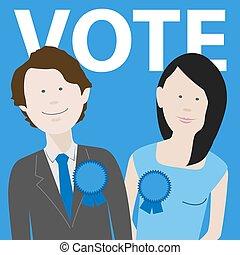 vote conservative political candidates
