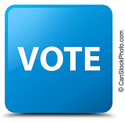 Vote cyan blue square button