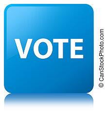 Vote cyan blue square button