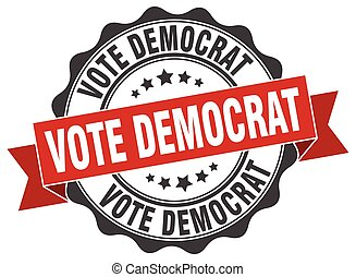 vote democrat stamp. sign. seal