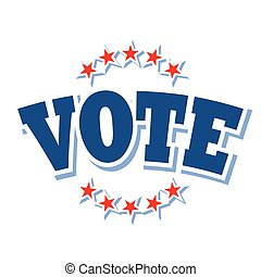 Vote logo isolated on white