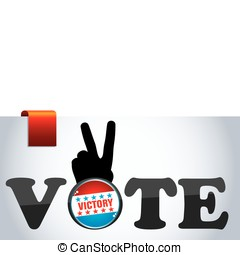 vote and hand