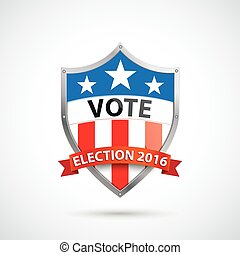 Vote Election 2016 Protection Shield Ribbon
