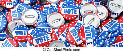 vote election on a white background 3D illustration, 3D...